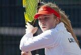 J.Eidukonytė eliminuota iš teniso turnyro Italijoje