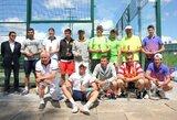 """Padelio teniso mėgėjai rungtyniavo turnyro """"LPF Vasaros taurė 2015"""" pirmojo etapo varžybose"""