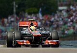 Vengrijos GP lenktynėse iš pirmosios pozicijos startuos L.Hamiltonas