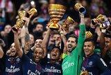 """PSG sutriuškino """"Monaco"""" ir vėl iškovojo Prancūzijos lygos taurę"""