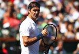 R.Federerio Majamyje nesustabdė ir D.Medvedevas