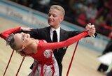Šokėjai K.Burneikis ir I.Šekaitė – pasaulio čempionato finalininkai