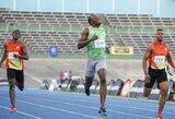 Jamaikos sprinto žvaigždė U.Boltas buvo nugalėtas pirmose šių metų varžybose