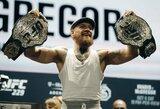 """C.McGregorą sužavėjo naujojo UFC diržo dizainas: """"Gerai, aš sugrįžtu"""""""