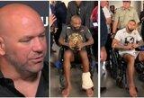 J.Jonesas ir T.Santosas areną paliko vežimėliuose, D.White'as pakomentavo C.Nurmagomedovo ir N.Diazo incidentą