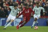 """Čempionų lygos aštuntfinalis: """"Bayern"""" atlaikė """"Liverpool"""" šturmą, poros nugalėtojas paaiškės Miunchene"""