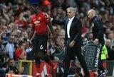 """J.Mourinho patvirtino, kad P.Pogba nebebus """"Manchester United"""" antruoju kapitonu: """"Neprivalau to aiškinti"""""""