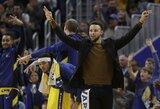 """S.Curry paaiškino savo frazę G.Antetokounmpo: """"Kviečiau kartu žaisti žaidimą"""""""