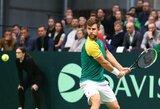 Lietuvos vyrų teniso rinktinė Daviso taurėje iškrito į žemesnę grupę