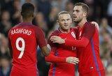 """""""Manchester United"""" puolėjai atvedė anglus į pergalę prieš australus"""
