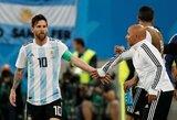 """J.Sampaoli: """"Išbandžiau viską, kad tik L.Messi atsiskleistų pasaulio čempionate"""""""