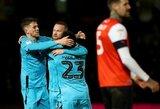 """Galingai: W.Rooney įmušė debiutinį įvartį už """"Derby County"""""""