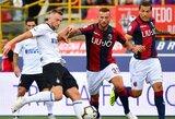 """""""Inter"""" klubas išvykoje nugalėjo """"Bologna"""" ekipą ir Italijos čempionate iškovojo pirmąją pergalę"""