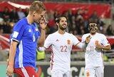 Pasaulio čempionato atranka: ispanai sutraiškė Lichtenšteiną, o kroatai nusileido turkams