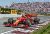 Pirmas finišavęs S.Vettelis prarado pergalę, L.Hamiltonas pakartojo M.Schumacherio rekordą