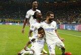 """""""Real"""" 89-ąją minutę išplėšė dramatišką pergalę Čempionų lygos rungtynėse prieš """"Inter"""" futbolininkus"""