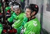"""Nuo pirmos iki paskutinės sekundės situaciją kontroliavęs """"Kaunas Hockey"""" pusfinalį pradėjo įspūdinga pergale"""