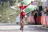 """Priešpaskutinį """"Giro d'Italia"""" etapą laimėjo estas, lyderis vėl pasikeitė"""