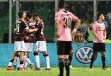 """""""Torino"""" klubas iškovojo triuškinamą pergalę Palerme"""