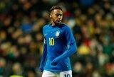"""Brazilijos rinktinė svarsto skaudų žingsnį: kaltinimų dėl išprievartavimo sulaukęs Neymaras gali praleisti """"Copa America"""" turnyrą"""
