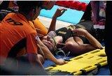 Septyniskart pasaulio plaukimo čempionei po finalo prireikė skubios medikų pagalbos