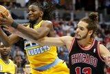 """Bulls"" pergalių serija nutrūko Denveryje"