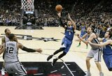 """Po pratęsimo laimėjusi """"Spurs"""" aptempdė R.Rubio trigubo dublio pasirodymą"""