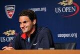 """R.Federeris: """"Esu kupinas pasitikėjimo savo jėgomis prieš """"US Open"""" turnyro startą"""""""