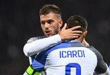 """Nelengvą pergalę iškovojusi """"Inter"""" ekipa bent trumpam kyla į pirmą """"Serie A"""" vietą"""