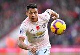 """""""Manchester United"""" dilema: net ir išnuomojus A.Sanchezą, teks sumokėti jam 15 mln. eurų"""