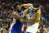 NBA nubaudė J.Embiidą ir K.Townsą