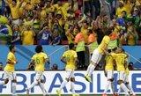 Pirmąją vietą išsaugoję brazilai aštuntfinalyje kausis su Čile