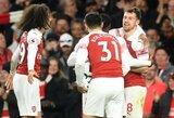 """Pergalę iškovojęs """"Arsenal"""" klubas pakilo į trečiąją """"Premier"""" lygos turnyrinės lentelės vietą"""