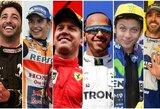 """""""Formulė 1"""", """"Nascar"""" ir """"MotoGP"""": kurio čempionato lenktynininkai uždirba daugiausiai?"""
