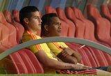 Kolumbijos lyderio J.Rodriguezo trauma nėra rimta, tačiau ateitis pasaulio čempionate - neaiški