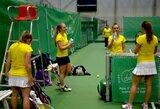 FedCup: Lietuvos tenisininkės Juodkalnijoje skina pergales