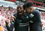 """""""Liverpool"""" ir toliau neklysta: G.Wijnaldumo įvartis padovanojo """"raudoniesiems"""" septintąją pergalę"""