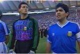 """Pasaulio čempionato finalo teisėjas: """"Galėjau išvyti D.Maradoną dėl jo elgesio skambant himnui"""""""