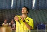 K.Navickas Europos badmintono čempionato aštuntfinalyje patyrė traumą (papildyta)