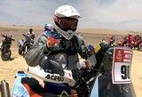 Nors ir nualintas karščio, B.Bardauskas po pirmos Dakaro dienos jaučiasi gerai