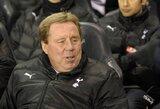 """H.Redknappas: """"Dar tikrai galime pavyti """"Arsenal"""""""