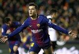 """""""Barcelona"""" planuoja iki mėnesio pabaigos parduoti žaidėjų už bent 60 mln. eurų"""