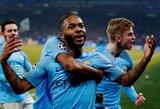 """Anglija: žaibišką """"hetriką"""" pelnęs R.Sterlingas nukalė """"Manchester City"""" pergalė"""