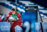 Pasaulio jaunių biatlono čempionate M.Fominas buvo per tris šūvius nuo medalio