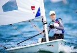Įspūdingai startavusi V.Andrulytė lyderiauja pasaulio buriavimo taurės etape Majamyje