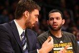 """""""Lakers"""" nori pratęsti sutartį su P.Gasoliu"""