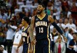 """""""Pacers"""" atšaukė susitarimą išsiųsti P.George'ą į """"Cavaliers"""" gretas"""
