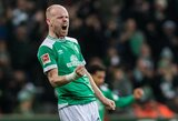 """Vokietija: atsilikimą panaikinę """"Werder"""" sužaidė lygiosiomis"""