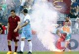 """""""Roma"""" ir """"Lazio"""" klubų """"ultros"""" boikotuos sostinės derbį"""