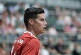 """Oficialu: J.Rodriguezas po dvejų metų paliko """"Bayern"""""""